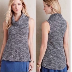 Anthro Dolan Sleeveless Textured Cowl Neck Sweater